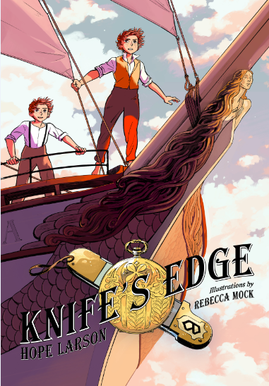 Cover of Hope Larson's new book, 'Knife's Edge.'