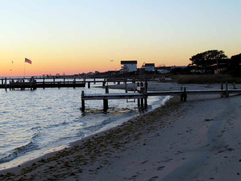Harkers Island at sunset