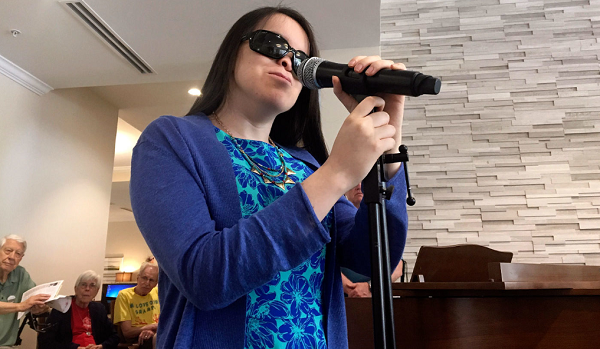 Mary Mikels is 20 years old and wants to be the next Blind Idol.