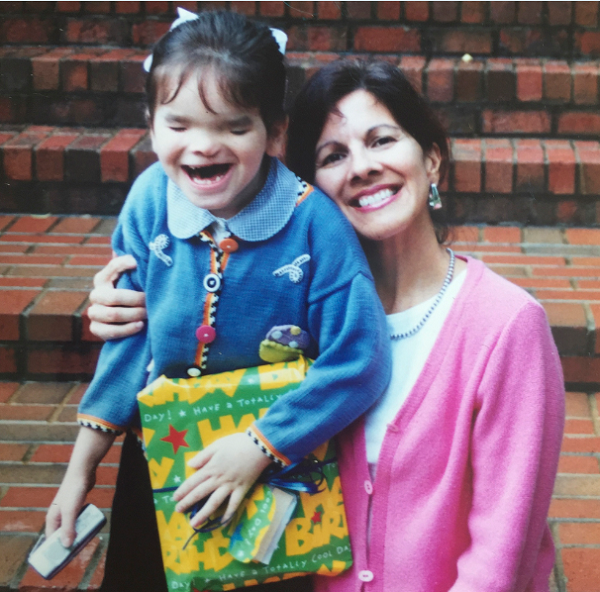 Mikels as a child pictured with her mother, Juana.