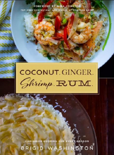 Cover of Coconut, Ginger, Shrimp, Rum cookbook