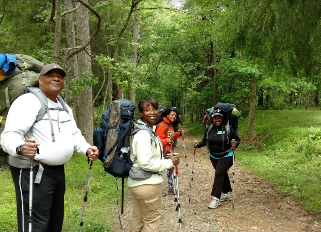 Beginner backpacking trip in the Fews Ford section of the Eno River State Park.