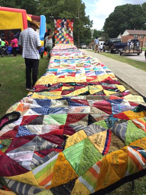 The Durham Homicide and Victims of Violent Deaths Quilt has nearly 700 names on it.