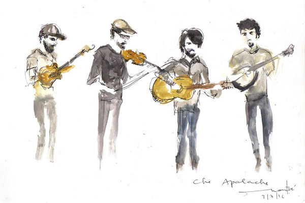 Che Apalache began as a traditional Appalachian string band but eventually incorporated Latin American styles into their repetoire. The result is an authentic South-Americana cambalache (mishmash) reminiscent of the Port City melting pot it came out of.