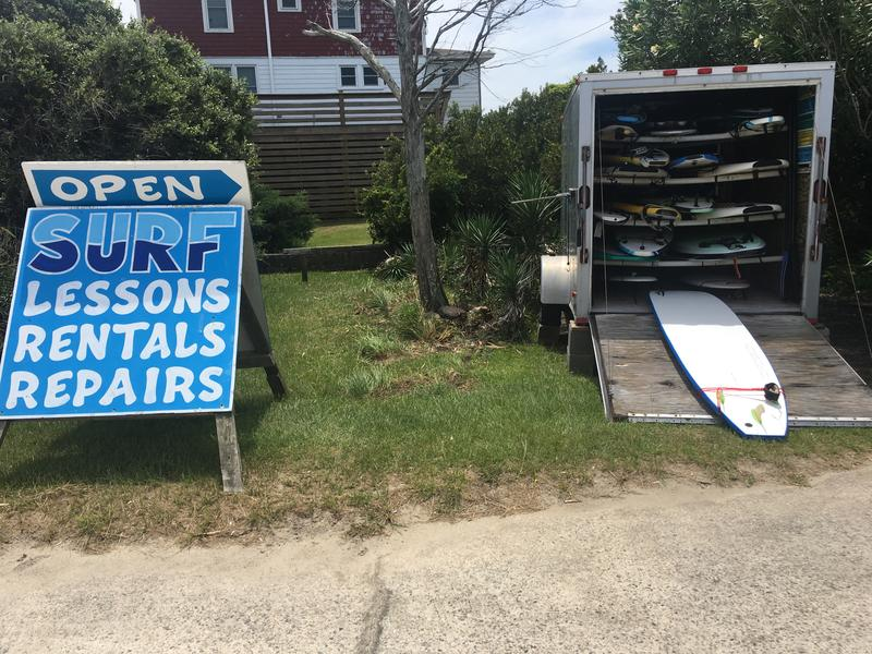 No surf boards were rented from Jason Heilig's Rodanthe Surf Shop. On a typical July day, Heilig would hope to see that cart totally empty.