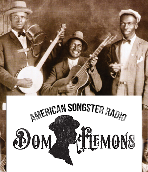 Gus Canonn, jug and banjo, Ashley Thompson, guitar, and Noah Lewis harmonica (Gus Cannon's Jug Stompers around 1928)