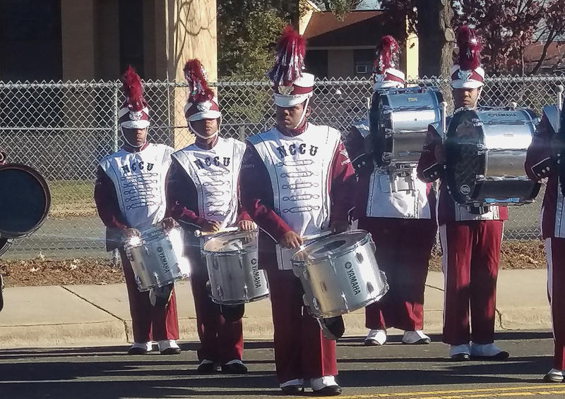 Jonathan Terry is a tenor drum player in the North Carolina Central University Marching band.