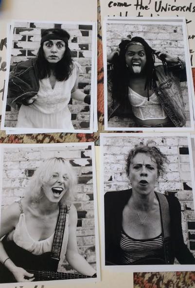 The Rags (circa 2002):   Bobbi (Meredith Sause) - drums; Jo (Drina Dunlap) - vocals  Pamela (Dana Marks) - guitar; Karen (Jessica Hudson) - bass