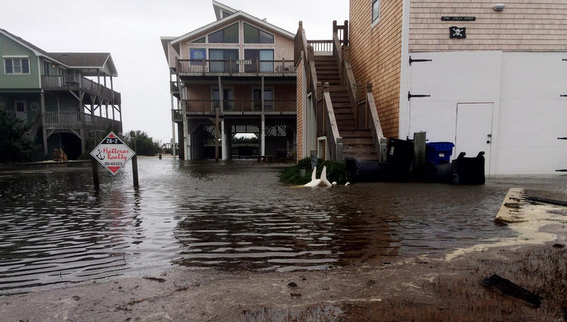 flooding along the Outer Banks after Hurricane Maria