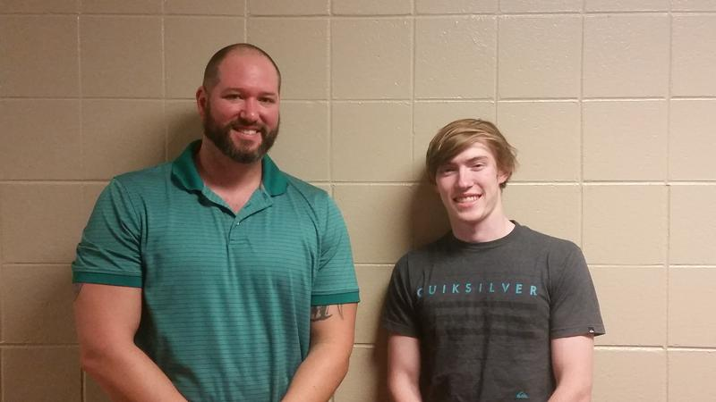 Teacher Russ Williams and Student Brendan Fusik