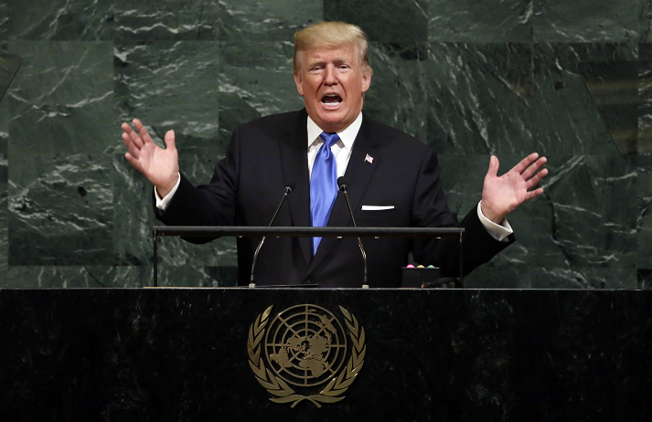 Donald Trump makes first speech to the UN