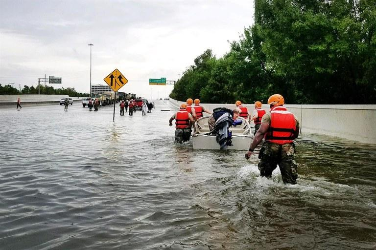 National Guard soldiers in Houston in August of 2017