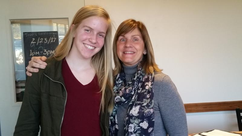 Student McKenna Daley with Teacher Jill Rattinger