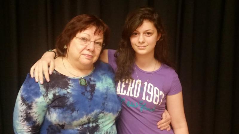 Drama Teacher Anna Marie Jones and Student Natasha Toledo
