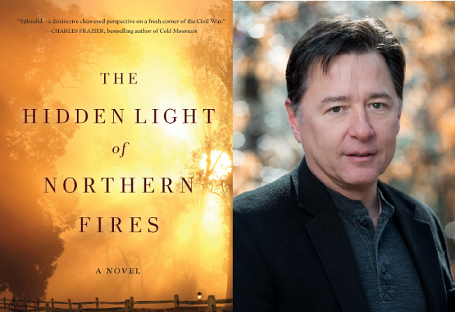 cover of 'The Hidden Light' and headshot of Daren Wang