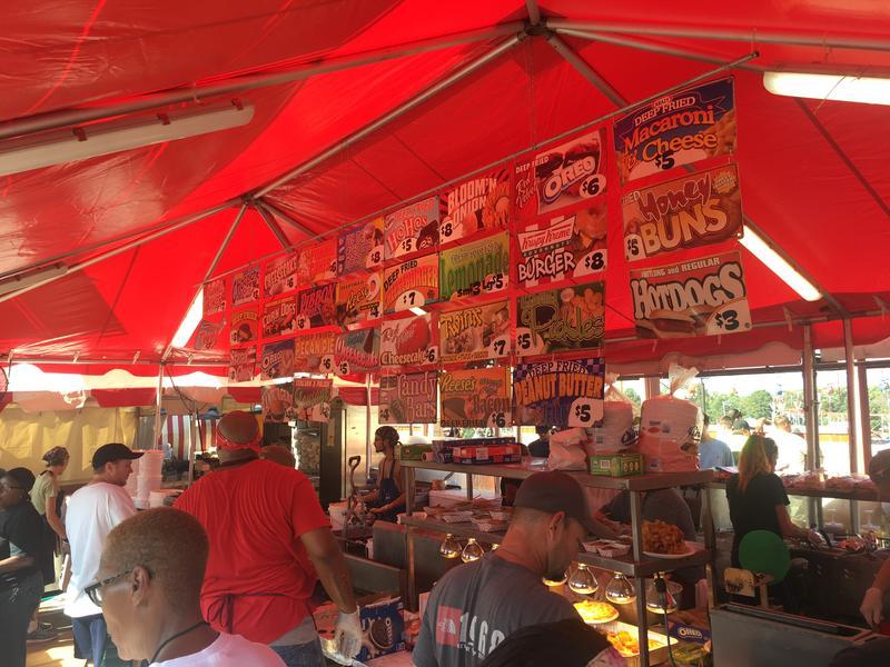 A food vendor at the 2017 North Carolina State Fair