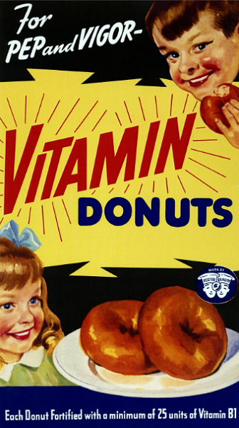 1920's ad for 'Vitamin Donuts'