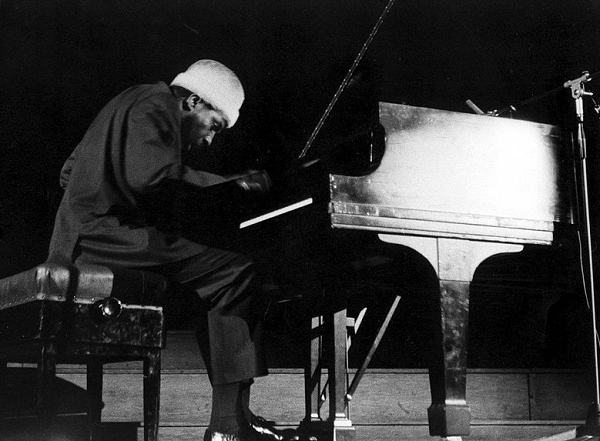 Thelonious at a concert in Brussels in 1964