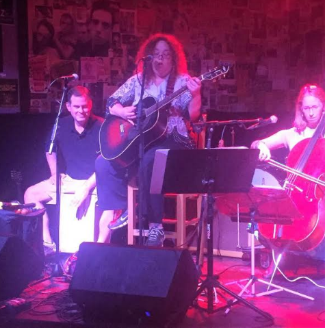 The Mysti Mayhem Trio just released an album featuring guitar, cello and the cajon drum along with Mysti Mayhem's soulful vocals.