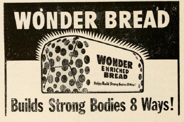 Wonder bread ad, 1956