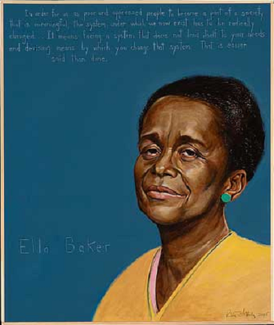 the life and work of ella baker A people's history: the life of ella baker  -ella baker as students, and certainly students in north carolina, we have heard much about the greensboro sit-ins and the civil rights movement  out of this work ms baker quickly gained a sense of collective struggle and a self-sufficient streak.