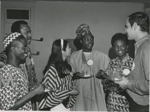 International students at UNC-G Coffee, 1970