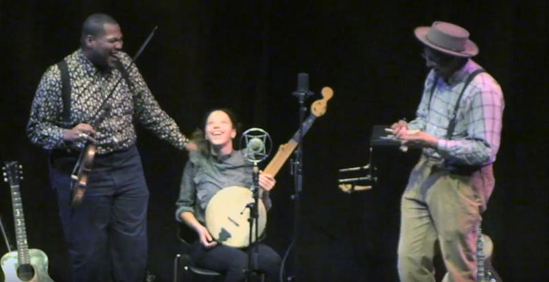 Screen cap from Pinecone's concert video