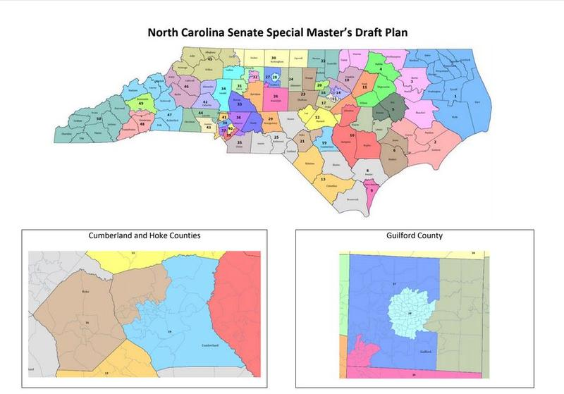 First draft of the special master's legislative districts, submitted Nov. 12