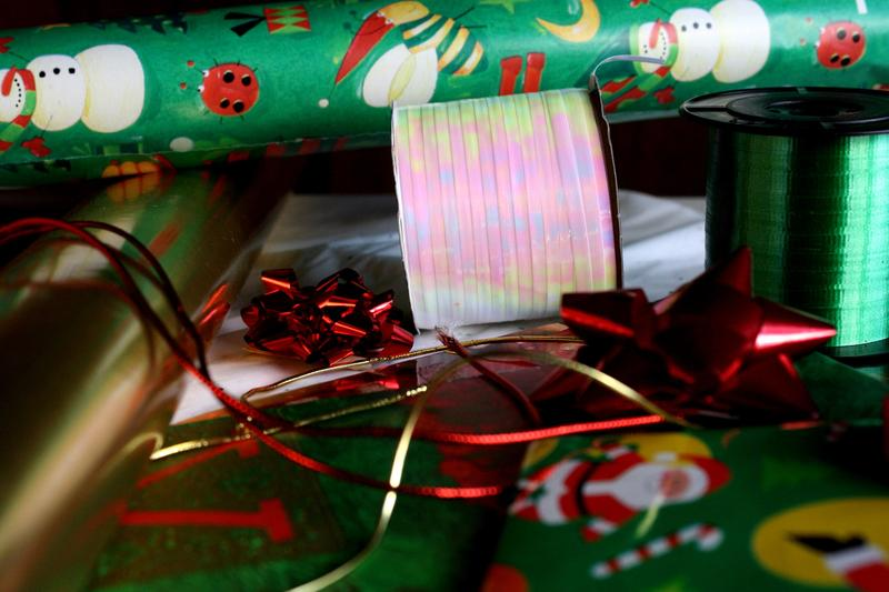A picture of gift wrapping supplies