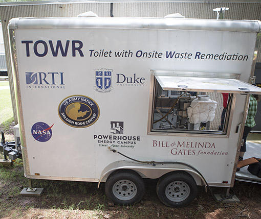 The TOWR Mobil Unit is currently used for testing and housed at RTI International's facility in RTP.