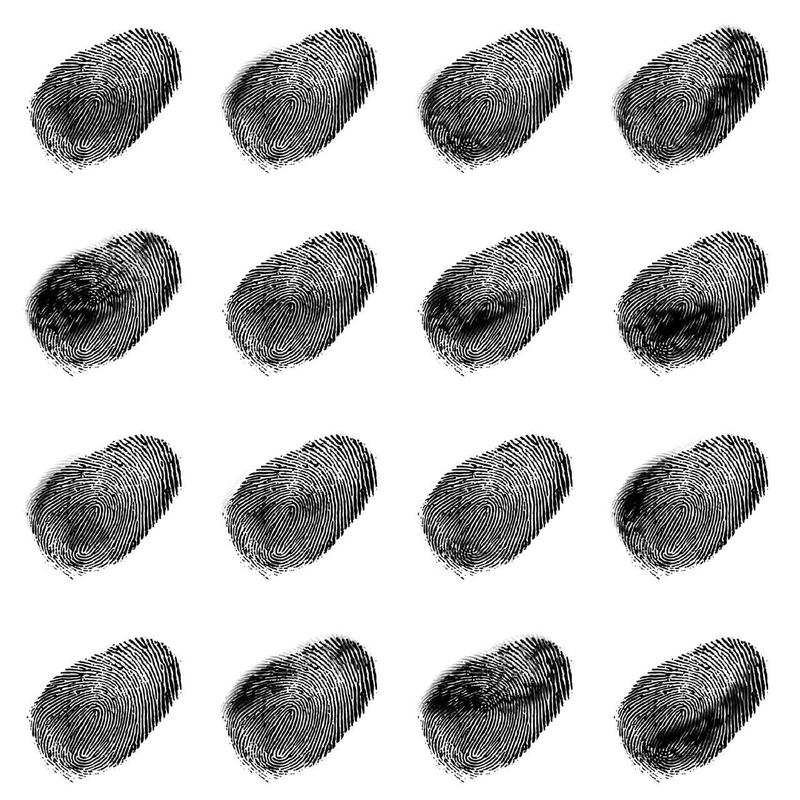 A drawing of fingerprints.