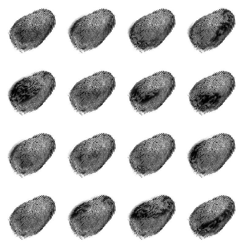 A drawing of fingerprints.
