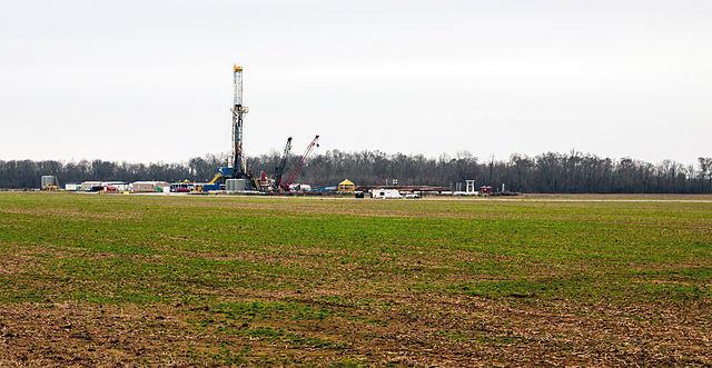 Fracking on the Haynesville Shale near Shreveport, Louisiana.