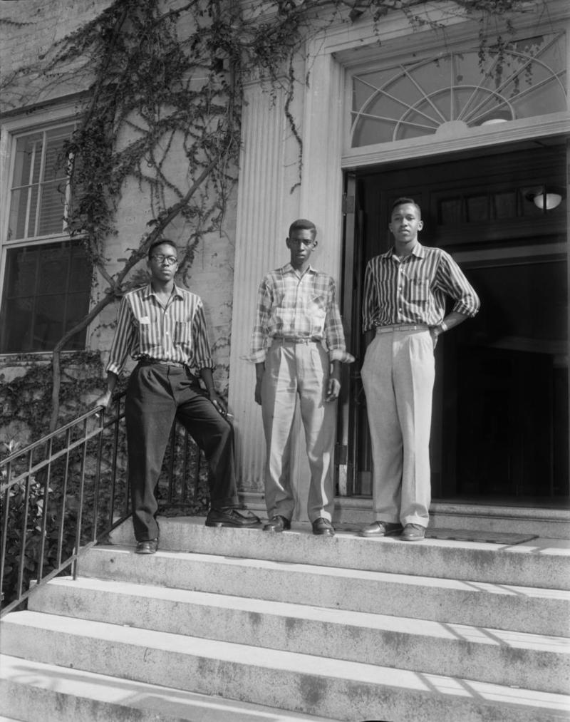 This 1955 photo shows from left, LeRoy Frasier, John Lewis Brandon and Ralph Frasier at UNC.