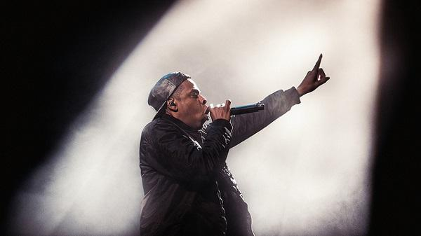 Image of Jay-Z performing