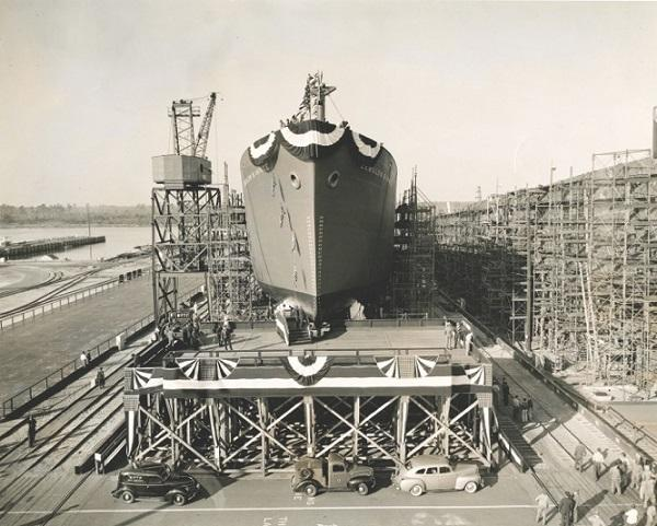 The North Carolina Shipbuilding Company built 243 ships in Wilmington that were used during World War II.