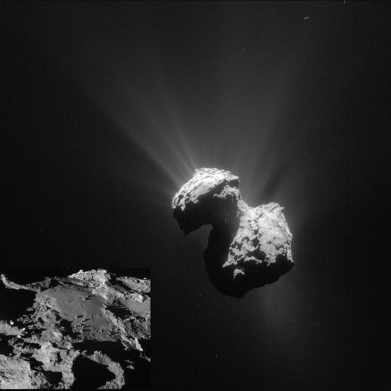 The Rosetta mission, launched in 2004, successfully landed on the comet 67P/Churyumov-Gerasimenko after a ten year journey.