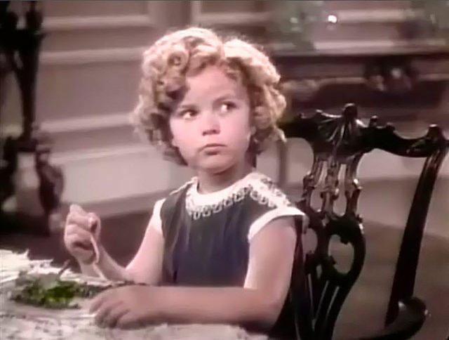 Child actress Shirley Temple in 'Poor Little Rich Girl.'