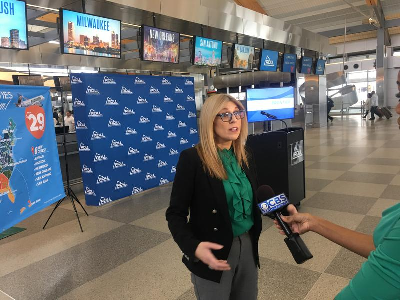 Tyri Squyres, Frontier Airlines vice president of marketing, discusses the new nonstop flights from Raleigh-Durham International Airport.