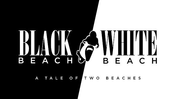 Photo of 'Black Beach/White Beach' logo.