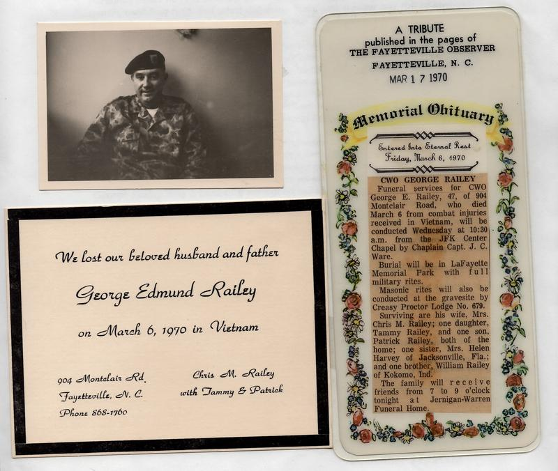 George Railey's obituary, photo, and memorial card.