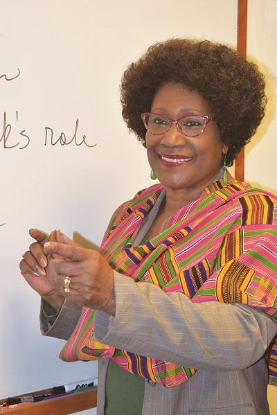 Photo of Carlton-LaNey teaching a class