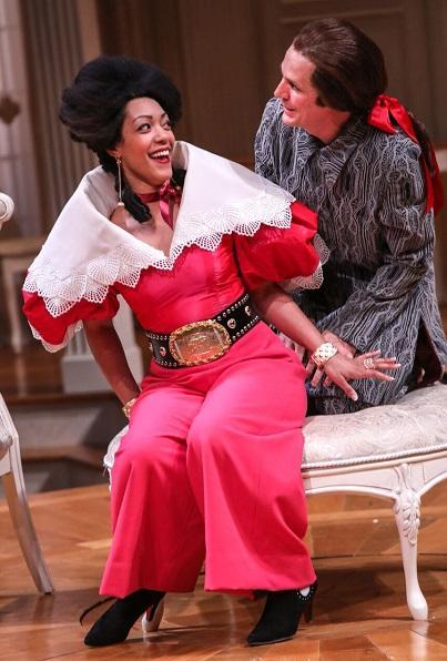 Photo of two actors in 'Tartuffe'