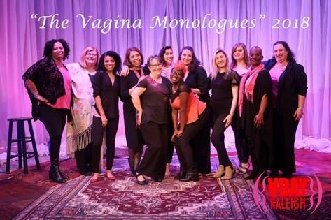 Photo of the 'Vagina Monolgues' cast onstage