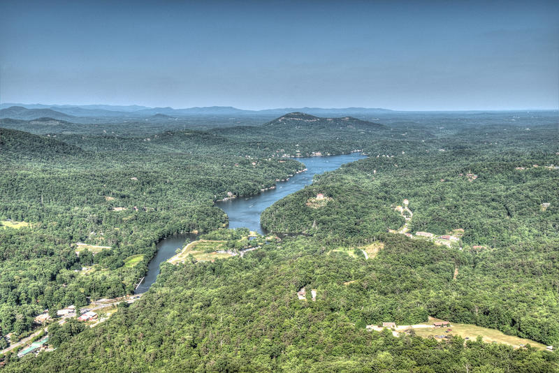 Aerial image of Lake Lure, North Carolina