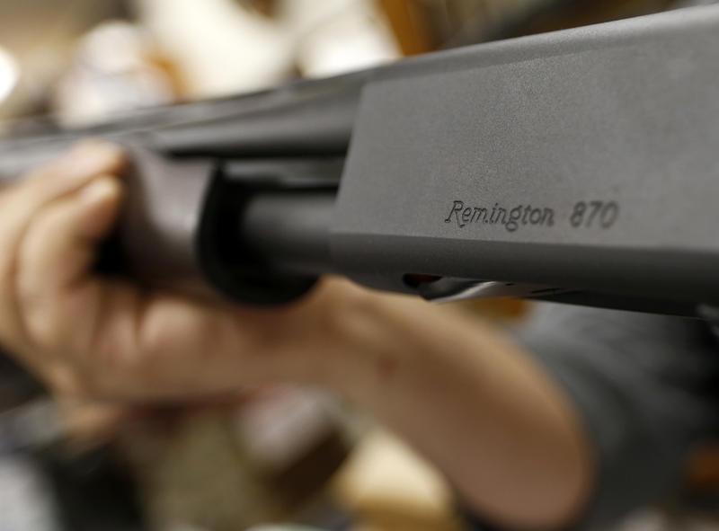 a Remington model 870 shotgun