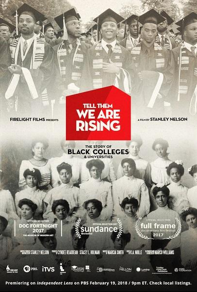 photo of film poster depicting graduating classes from HBCU's