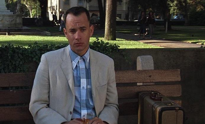 a still of Tom Hanks from the movie Forrest Gump