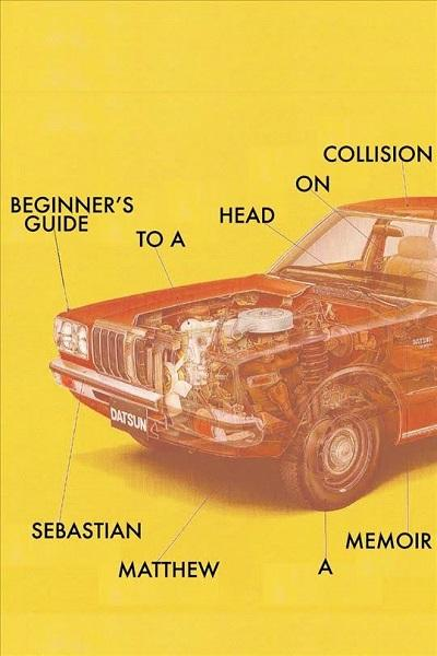 book cover for 'beginner's guide to a head on collision'