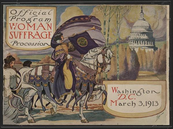 copy of the official program of the women's suffrage procession, March 1913
